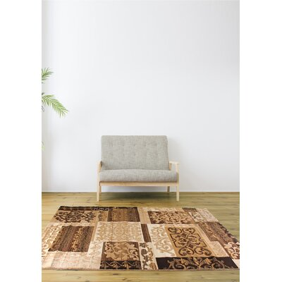 Brundrett Cream/Ivory Area Rug Rug Size: 53 x 77