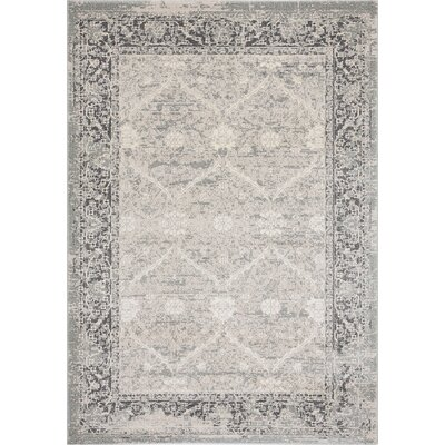 Patten Beige/Light Gray Area Rug Rug Size: Rectangle 53 x 8