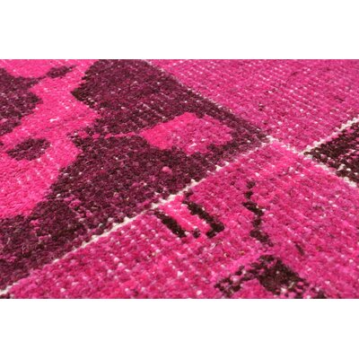 Deegan Vintage Hand-Knotted Pink Area Rug