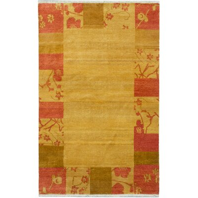 Kadyn Hand-Knotted Gold Area Rug