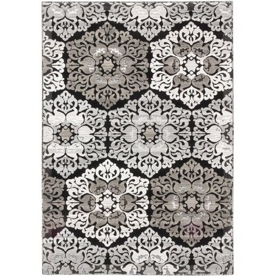 Brundrett Black/Light Gray Area Rug