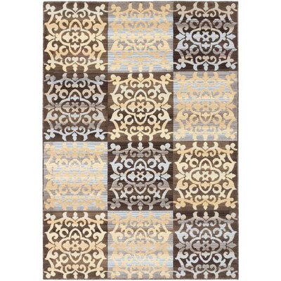 Brundrett Dark Brown/Light Gold Area Rug Rug Size: 311 x 53