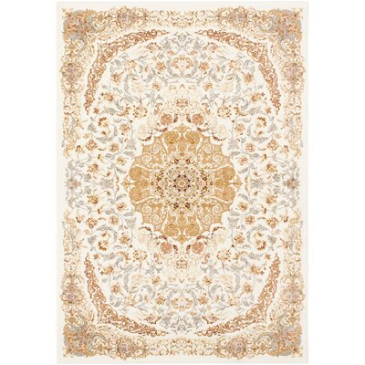 Krittika Copper/Light brown Area Rug Rug Size: 53 x 77