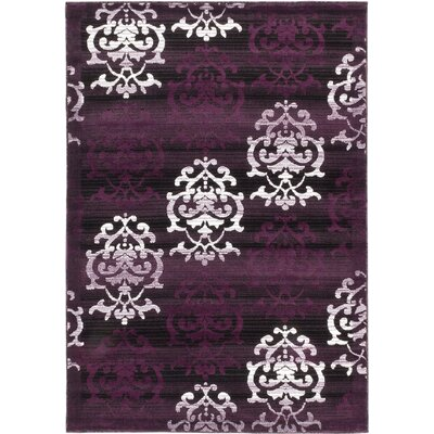 Brundrett Black/Violet Area Rug