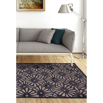 Almodovar Dark Navy/Light Gray Area Rug Rug Size: 76 x 106