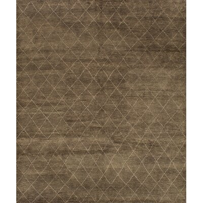 One-of-a-Kind Bridgewater Hand-Knotted Dark Khaki/Light Gray Area Rug