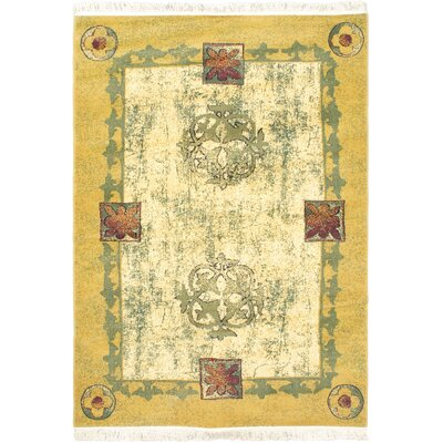 Seamus Cream/Green Area Rug