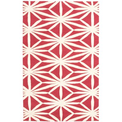 Charthouse Hand-Tufted Cream/Red Area Rug