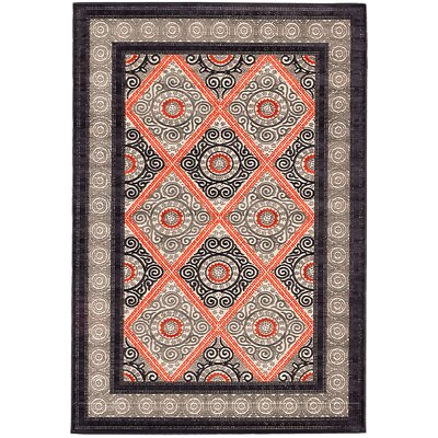 Granada Copper/Gray Area Rug Rug Size: 76 x 106