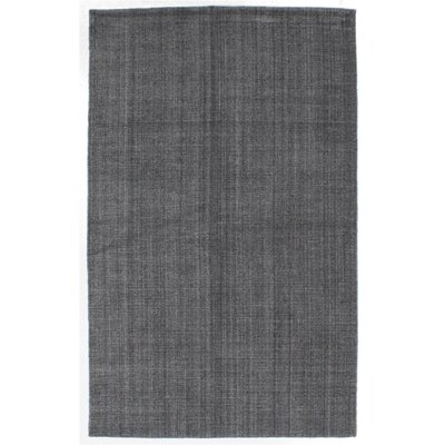 Don Hand-Knotted Dark Gray Area Rug