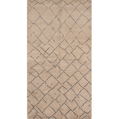Bridgewater Hand-Knotted Beige/Dark Gray Area Rug