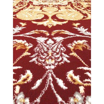 Krittika Dark Red/Cream Area Rug