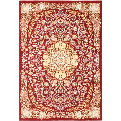 Krittika Dark Red/Cream Area Rug