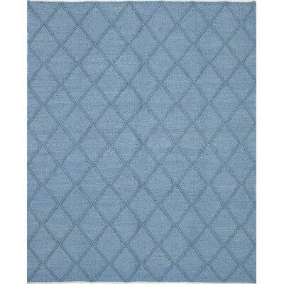 Maui Braided Handmade Sky Blue Area Rug Rug Size: 92 x 121