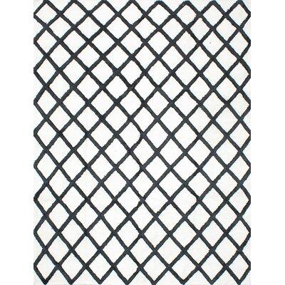 Bonefield Kilim Dark Navy/Light Cream Area Rug Rug Size: 8 x 10