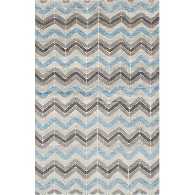 Payton Hand-Knotted Gray/Blue Area Rug