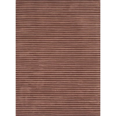 Brenneman Hand-Tufted Brown Area Rug