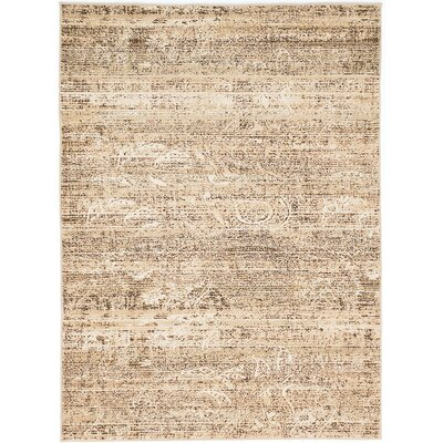 Shawn Beige/Cream Area Rug Rug Size: 53 x 73