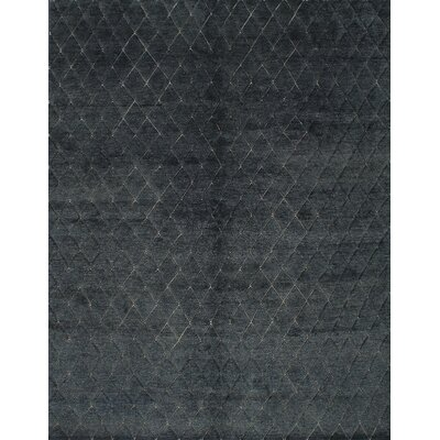 Bonita Hand-Knotted Turquoise/Black Area Rug