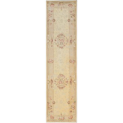 Inny Hand-Tufted Cream/Light Gold Area Rug