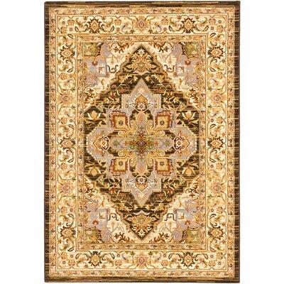 Monalisa Cream/Dark Brown Area Rug Rug Size: 311 x 53