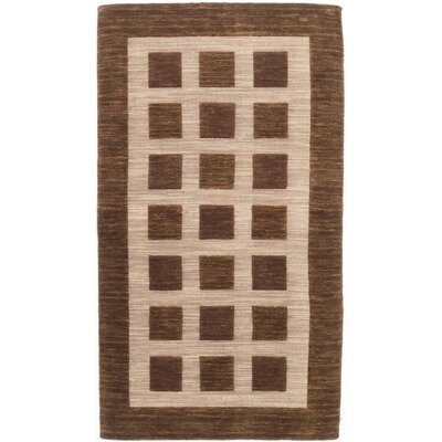 Bria Hand-Knotted Beige/Brown Area Rug