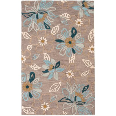 Nanticoke Hand-Tufted Blue/Rose Area Rug