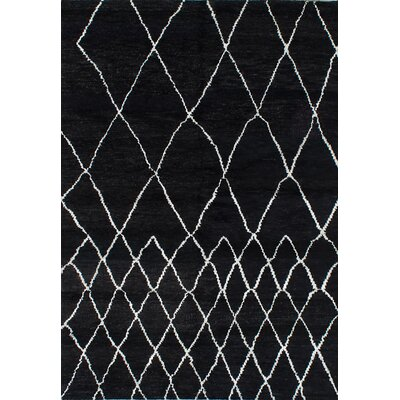 One-of-a-Kind Bridgewater Hand-Knotted Black Area Rug