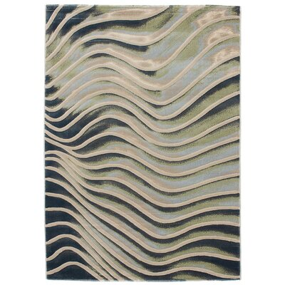 Breslin Abstract Emerald Green/Gray Area Rug Rug Size: 53 x 77