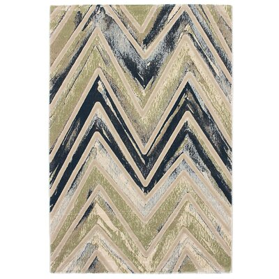 Seth Emerald green/Gray/Blue Area Rug Rug Size: 311 x 57