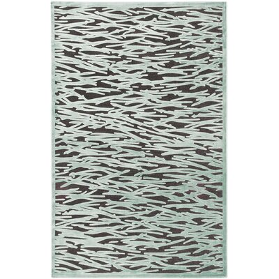 Serena Dark Gray/Teal Area Rug
