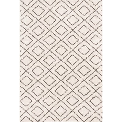 Maynard Shag Ivory Area Rug Rug Size: Rectangle 52 x 75
