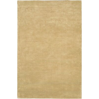 Bertram Abstract Art Hand-Tufted Beige Area Rug