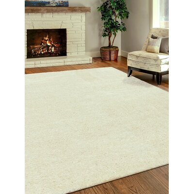George Shag Cream Area Rug Rug Size: Rectangle 710 x 102