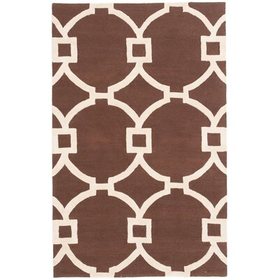 Sherly Hand-Tufted Dark Brown Area Rug