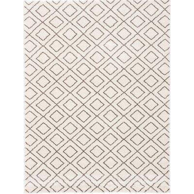 Maynard Shag Ivory Area Rug Rug Size: Rectangle 79 x 10