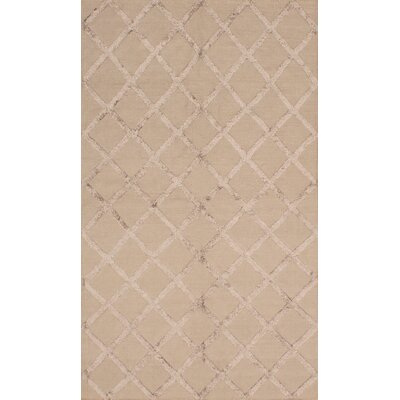 One-of-a-Kind Bonefield Silk Dark Khaki Area Rug