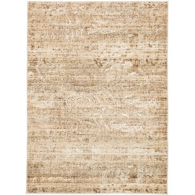 Shawn Beige/Cream Area Rug Rug Size: 710 x 102