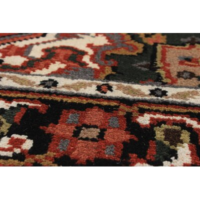 One-of-a-Kind Bertram Traditional Hand-Knotted Wool Dark Copper Area Rug