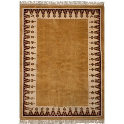 One-of-a-Kind Bettina  Hand-Knotted Wool Light Brown Area Rug