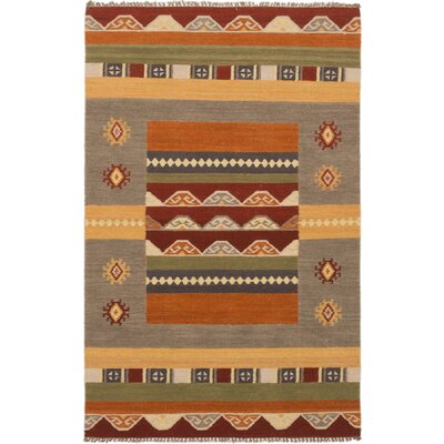 Barre Hand-Woven Wool Dark Copper/Gray Area Rug