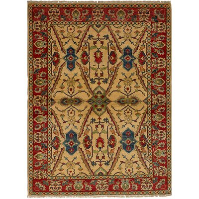 One-of-a-Kind Bernard Hand-Knotted Wool Cream Area Rug