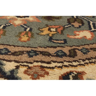 Bertram Hand-Knotted Wool Gray Area Rug