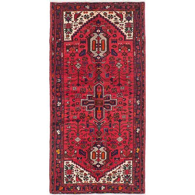 Bilgarrie Hand-Knotted Wool Red Area Rug
