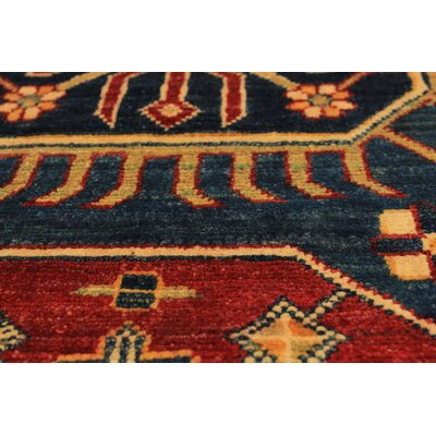 One-of-a-Kind Bernard Hand-Knotted Wool Navy Blue Area Rug
