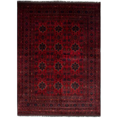 Bilberry Hand-Knotted Wool Dark Red Indoor Area Rug