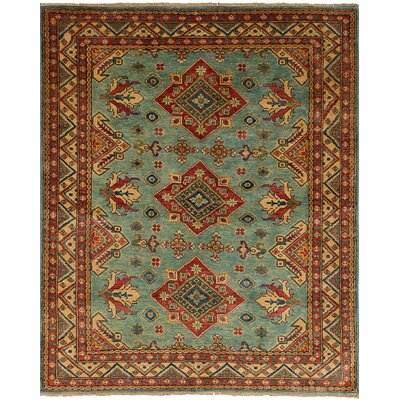 One-of-a-Kind Bernard Hand-Knotted Wool Turquoise Area Rug