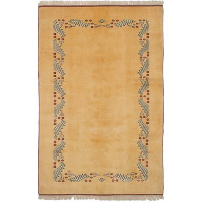 Bettina Hand-Knotted Wool Light Gold Area Rug