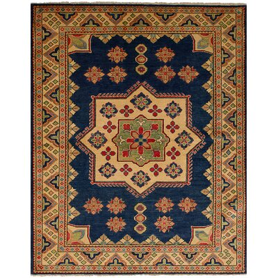 One-of-a-Kind Bernard Hand-Knotted Wool Navy Area Rug