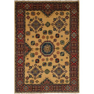 One-of-a-Kind Bernard Traditional Hand-Knotted Wool Cream Area Rug